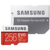 Samsung EVO Plus 256 GB Micro SD R100W90 (Up to 100MB/s read, 90MB/s write, w/adapter)