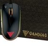 GAMDIAS ZEUS E2 Optical Gaming Mouse (3200DPI, 6 Smart Keys, NYX E1 Mouse Mat)