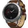Garmin Fenix Chronos smart watch (Steel with Vintage Leather Band)