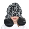 Sigema Neck Pillow with Hat Cover (Ceet Fouad Black, NP-CF-01)