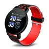 Tec Sante Optical Heart Rate & Blood Pressure Monitor スマートウォッチ SD6P (Red)