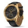 Garmin Vívomove Luxe Hybrid Smart Watch (Gold / Black Leather)