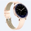 Tec Sante Blood Pressure & Menstrual Reminder Smart Watch SY12  for Ladies (Gold Case with Pink Leather Strap)