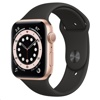 Apple Watch Series 6 - 44mm (GPS, Gold Aluminium Case + Black Sport Band)