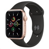 Apple Watch SE - 44mm (GPS, Gold Aluminium Case + Black Sport Band)