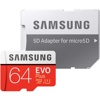 Samsung EVO Plus MicroSDXC Card (2020) C10 U3 UHS-I w/Adapter (64GB, 100MB/s read,  90MB/s write)