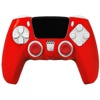 REDIX Silicone Protective Case Kit for PS5 Controller (Red)