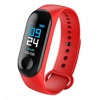 Tec Sante IP67 Color Screen Heart Rate Monitoring Bracelet M3P (Red)
