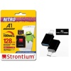 Strontium NITRO A1 128GB MicroSDXC Card and Adapter (with USB Type-C OTG Adapter)