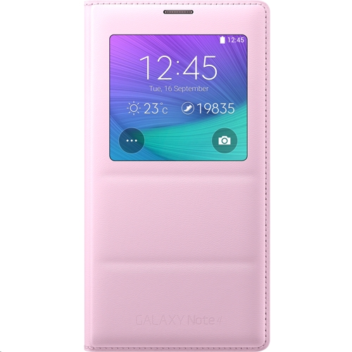 pretty nice 47271 1b6bd Samsung S-View Cover for Samsung Galaxy Note 4 Pink