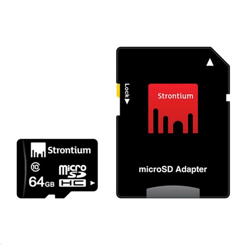 Strontium MicroSDXC Card with Adapter