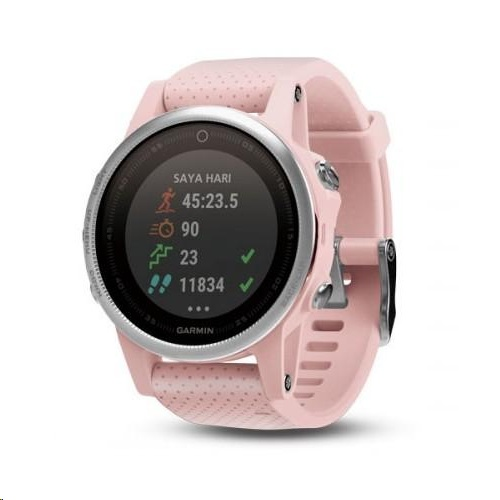 Garmin Fenix 5s Sapphire Pink Meringue With Pink Band Expansys