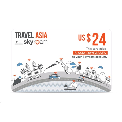 Skyroam Pre-Paid WiFi Asia Daypass Card $24