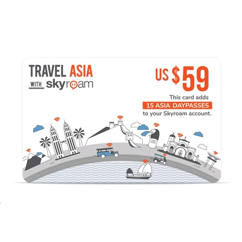 Skyroam Pre-Paid WiFi Asia Daypass Card
