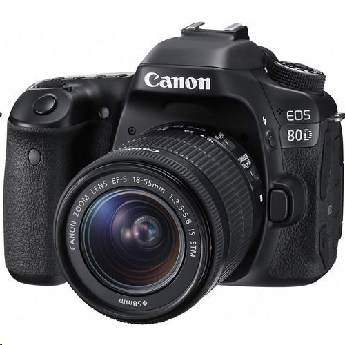 Canon EOS 80D DSLR Camera + EF-S 18-55mm f/3.5-5.6 IS STM Lens