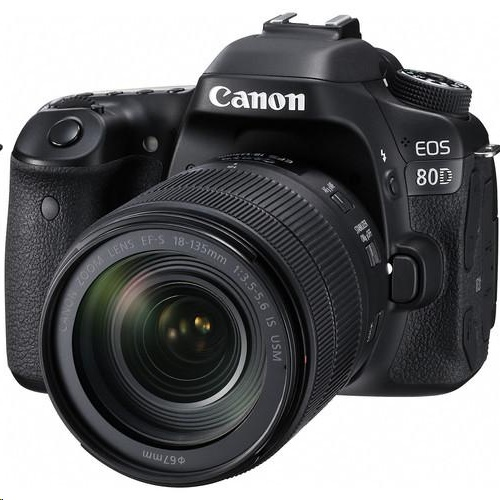Canon EOS 80D EF-S 18-135mm f/3.5-5.6 IS USM Lens Kit