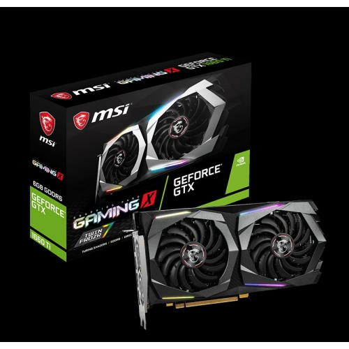 MSI PCI-Express GeForce GTX NVIDIA-1660 Ti GAMING X 6G