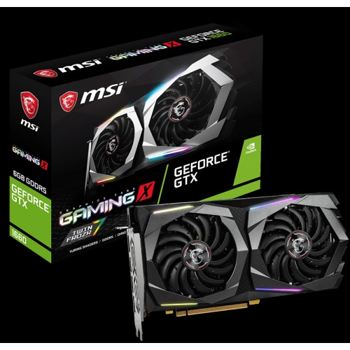 MSI PCI-Express GeForce GTX NVIDIA-1660 GAMING X 6G