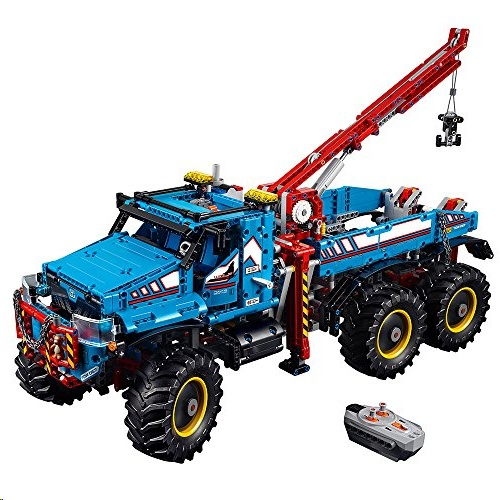 Lego 42070 Technic 6x6 All Terrain Tow Truck Toy Motor Kit