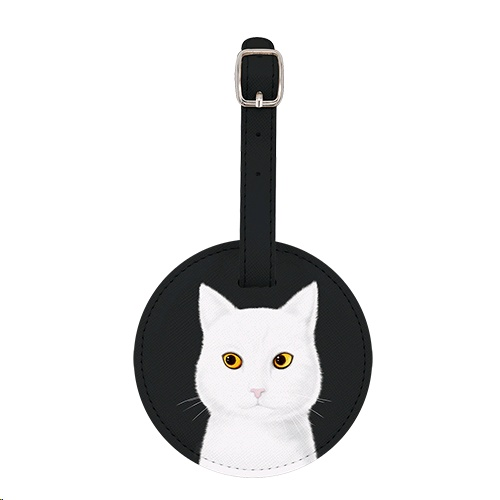 Sigema Luggage Tag - White Cat