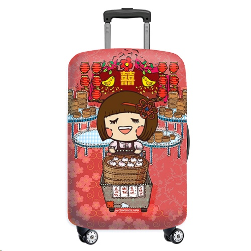 Sigema Luggage Cover/Jacket Chocolate Rain