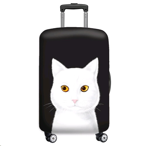 Sigema Luggage Cover/Jacket FlyingMouse365 - White Cat