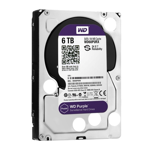 Western Digital WD Purple Surveillance 7 mm SATA HDD Internal Hardisk, 5400RPM, 64MB
