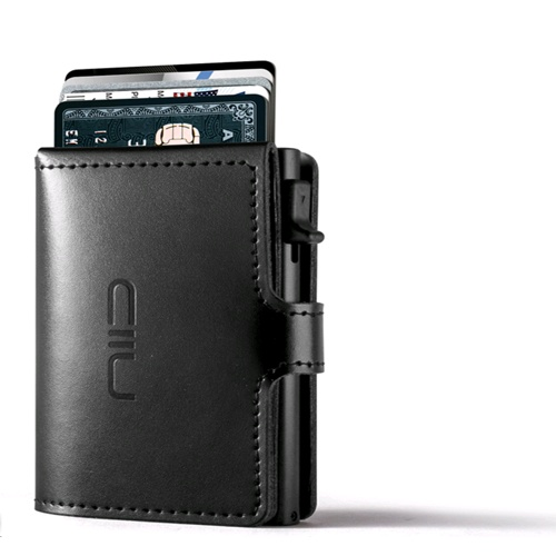 NIID RFID Slide Mini Wallet, Anti-scratch Genuine Leather 防盜刷真皮智慧卡夾