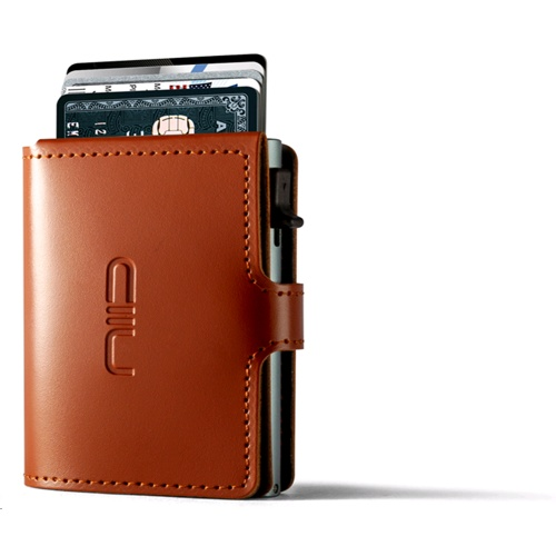 NIID RFID Slide Mini Wallet, Anti-scratch Genuine Leather