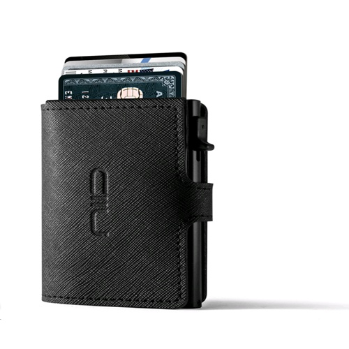 NIID RFID Slide Mini Wallet, Saffiano Genuine Leather