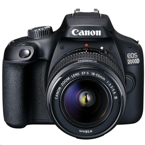 Canon EOS 2000D + EF-S 18-55mm f/3.5-5.6 DC III Lens Kit