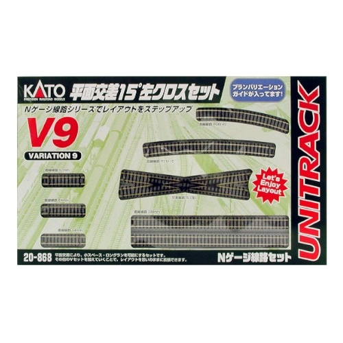 Kato V9 20-868 15-Degree Crossing Left Set