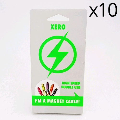 XERO High Speed Double microUSB-USB Magnetic Cable
