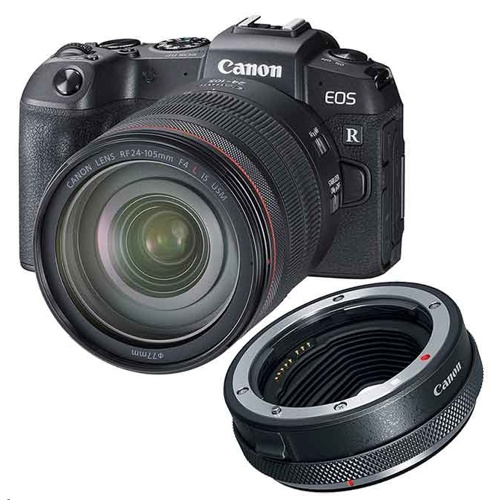 Canon EOS RP + R Mount Adapter + RF 24-105mm f/4L IS USM Lens Kit