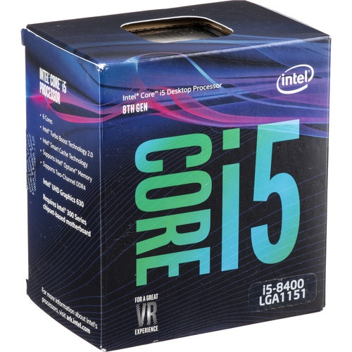 Intel Core i5-8400  Box, 2.8 GHz 6-Core LGA 1151 Processor, CPU