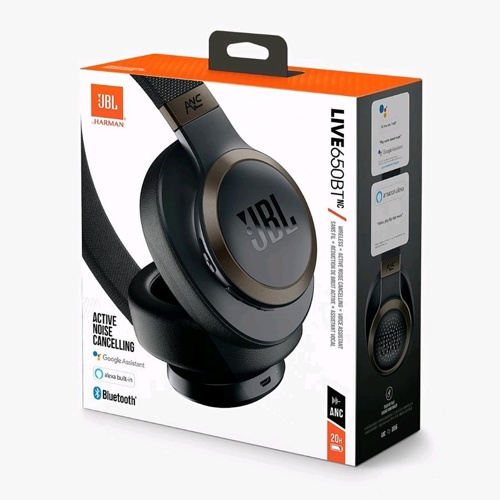 JBL Live 650BTN Wireless On-Ear Headphones