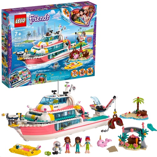 Lego 41381 Friends: Rescue Mission BoatBuilding Kit