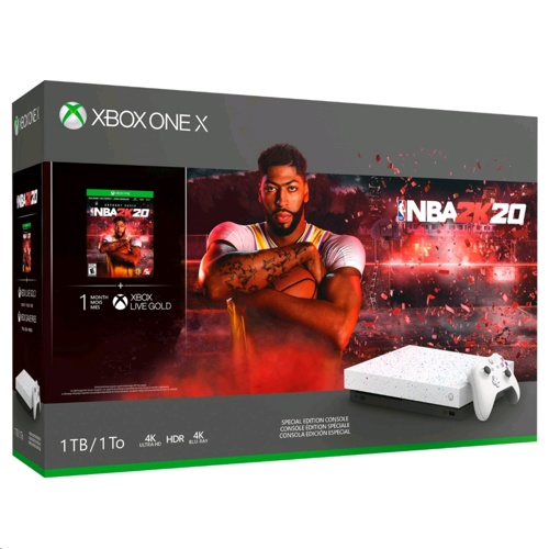 Xbox One X 1TB Console With Wireless Controller - NBA 2K20 Special Edition