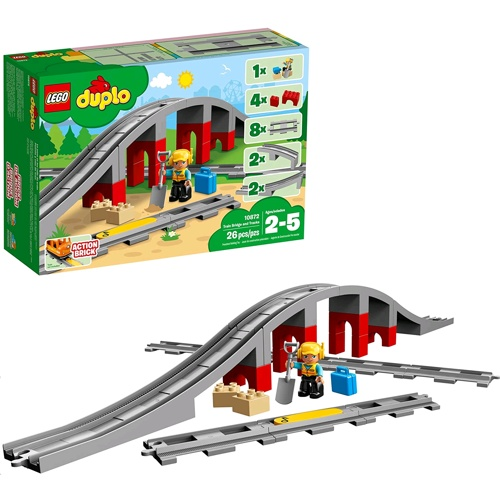 Lego 10872 Duplo Train Bridge and Tracks system set