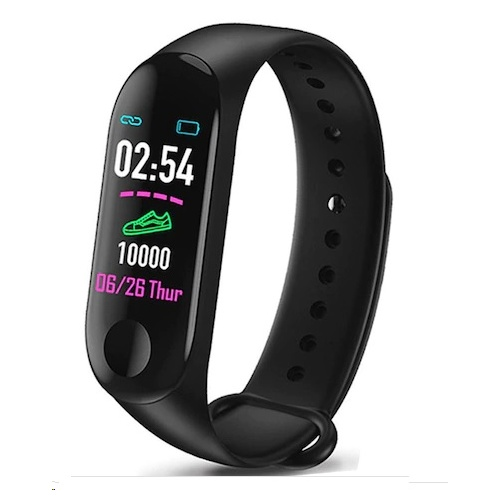 Tec Sante IP67 Color Screen Heart Rate Monitoring Bracelet M3P